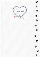 Pkt #1-734-Recycled Paper- Love