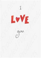 Pkt #1-737-Recycled Paper- Love