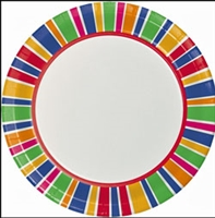 "1876LP-Party Dots 8.75"" Dinner Plates"