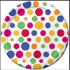 "1876SP (6111SP)-Party Dots 6.875"" Dessert Plates"