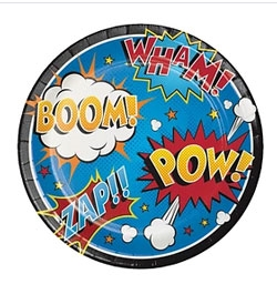 "4837LP-Superhero Slogans 8.75"" Dinner Plate"