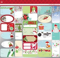 Christmas/Holiday Peel & Stick Tags-9600