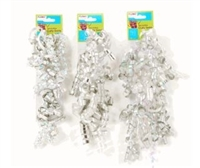 2 Pack or Embellished Curly Swirl Bow-Metallics